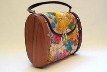 Wood purse