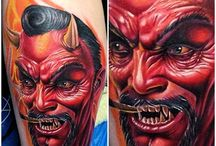 Demon Tattoos / http://www.tattoosideas.co.uk/angels-demons-pictures.html