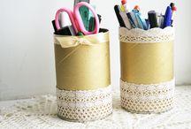 Reciclagem / Artesanatos e ideias feitas com materiais reaproveitados.