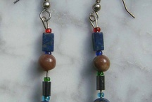 My Holistic Organic Handmade  Artistic Jewelry / On this board, you'll find my organic handmade earrings made with semi-precious stones and glass and recycled beads.  I designed the earrings with holistic healing in mind.  I've studied the wonderful healing power of semi-precious stones for 20 years and I'm fascinated with their Magick.
