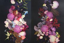 Pressed Flowers Black
