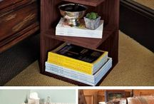 Book storage end table