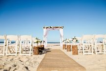 Modern Rustic Beach Wedding Styling Ideas / Beauty & The Beach - Modern Rustic Beach Wedding Styling Beach Bamboo Wedding Canopy - Wooden Logs - Shepherd Hooks - Americana Chairs - Rustic Wedding Styling Ideas