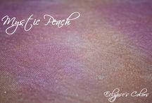 Mystic Peach / Eclypse's Colors - tele da ricamo tinte a mano