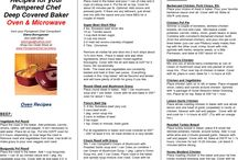 DCB {Deep Covered Baker} / Recipes for my Pampered Chef deep covered baker