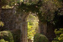 gardens and manor entrances