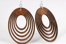 wooden earrings / beautiful laser cut wooden earrings