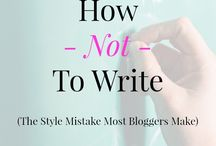 ♥ Writing Tips / Writing Tips for Bloggers from PoorLittleBlogger.com and around the net.