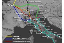 High speed train maps