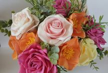 цветы из фламирана