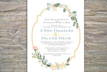 Floral for invites