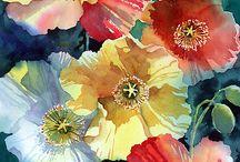 λουλούδια ζωγραφική