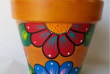 Painted potts