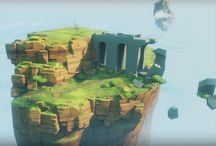 Low Poly/Pixel Art