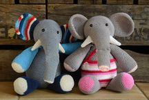 Hæklet Elefanter