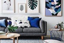 Grey sofa styling