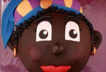 Taart december / taart sinterklaas zwarte piet kerst cake fondant decembre santaclaus christmas