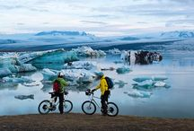 Biking in Iceland / Iceland is known for its hiking and biking trails!