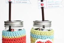 frascos crochet