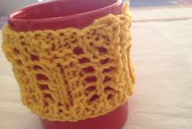 Cup cozy / 100% acrylic crochet handmade Customer made order with various colours and yarn preferences also undertaken