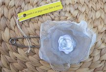 SPILLE TESSILI by Luciana Torre / on sale at my SHOP:  http://it.dawanda.com/shop/ceramica-accessori-dipinti-Luciana-Torre