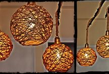 DIY ceiling lights / DIY ceiling lights out of tree branches