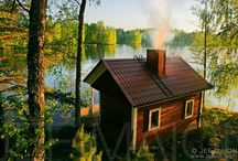 Sauna of Finland <3 / Smoke is coming out of the sauna chimney. No neighbours, just you and your thoughts. And nature.
