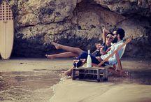 ¡Hola! on the beach