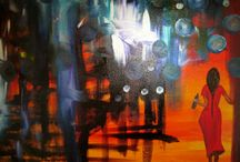 Hang it All / Abstract original art for any wall in your home