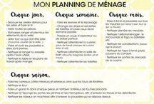 planning menage
