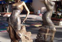 Flamenco statues