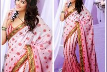Designer Sarees 2015 / Jugniji.com : A huge sparkling collection of Indian ethnic wear in our attention-grabbing online showroom whose variety is growing every month.## http://goo.gl/EYyrFS