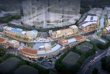 "C4-5,6,7,8BL, No.2,3,4,5 - ""LAVENICHE MARCH AVENUE, Gim-po"" / C4-5,6,7,8BL, No.2,3,4,5 Project ""LAVENICHE MARCH AVENUE : Culture Theme Canel & Street Mall CG Birds-eye View / ""라베니체 마치에비뉴"" 두 번째, 세 번째, 네 번째, 다섯 번째 프로젝트 C4-5,6,7,8블록 수변상업시설 조감도"