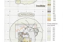 Cross stitch cats / cat cross stitch to make xmas ornaments / by Renee Williams