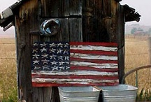 Red, white and blue / Love our country, love our flag and love all things red, white and blue:-)  / by Barbara Fertig