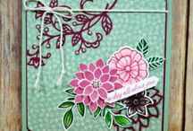 Falling Flowers/May Flowers Framelits Card Ideas / by Laurie Graham: Avon Rep