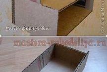 домики и мебель из картона