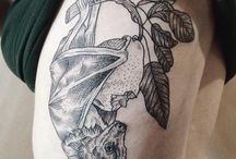etching style tattoo