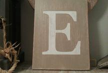 Letter Plaques