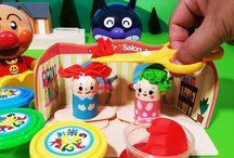 アンパンマンおもちゃアニメ❤ねんどヘアサロン! Anpanman toys