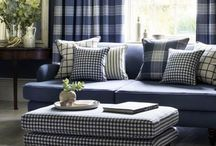 Glenmore (January 2016) / A collection of coordinating checks, stripes and plains with good performance and soft, wool-like texture. Suitable for both drapery and heavy duty upholstery and presented in a wide range of classic and modern colours.