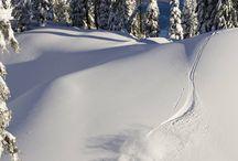 Powder days / Riding in beautiful soft white powder...