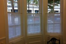 Privacy AND Light! Window solutions / Window dressing ideas that allow daylight and privacy.