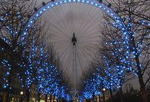 Londres en bleu.