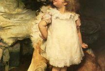 ARTHUR JOHN ELSLEY.(BRTÁNICO( / pinturas de niños