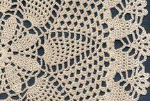 Para guardanapos de crochet