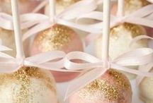 Cake pops pink and gold