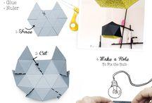 lamparas y origami