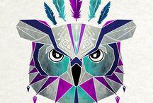 геометрические животные