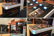 Exhibition and Trade Stand Entertainment / Customised entertainment for trade shows and exhibitions with branded games hire.